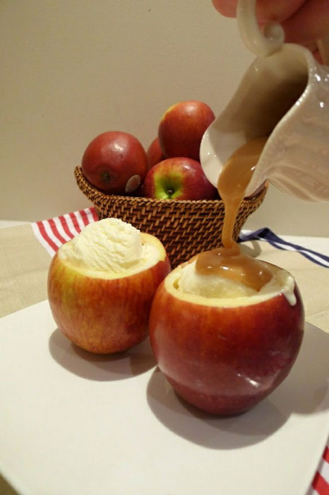 caramel-and-ice-cream-served-inside-apple-bowl