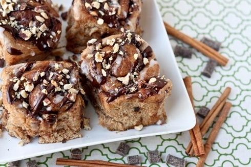Whole-Wheat-Dark-Chocolate-Hazelnut-Nutella-Cinnamon-Rolls-from-Side-of-Sneakers